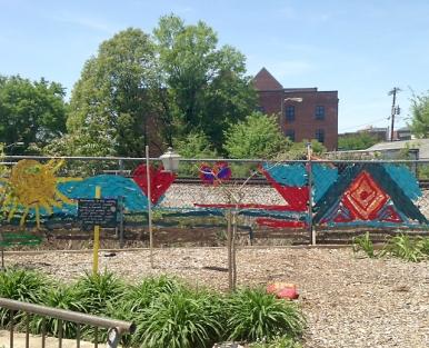 The Interactive Resource Center's (IRC) Peace Garden.