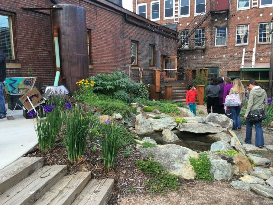 The pond at Elsewhere Yard - May 2016